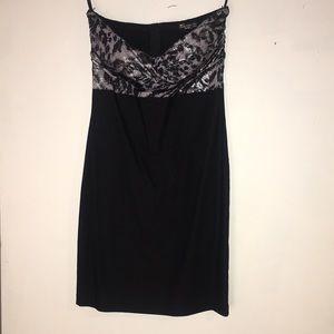 Strapless Dress - midi - elegant size small